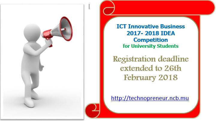 Registration deadline extended for ICT Innovative Business IDEA Competition 2017- 2018